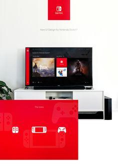 Nintendo Switch Interface on Behance