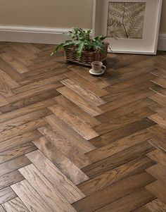 A truly stunning herringbone solid wood floor, Park Avenue Herringbone Espresso Oak features a subtly rich colour palette that makes you fall in love with this truly amazing floor. Earthly tones with various shades of coffee, all flowing alongside one ano Wood Floor Design, Wood Floor Pattern, Herringbone Wood Floor, Floor Patterns, Direct Wood Flooring, Oak Hardwood Flooring, Hallway Flooring, Kitchen Flooring, Refinish Wood Floors