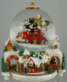 I'm dreaming of a white Christmas, just like the ones in antique snow globes...