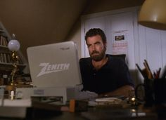 Tom Selleck using a Zenith computer