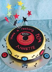 Record Cake | Idea for baby shower