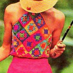 Vintage Crochet Pattern Granny Squares por PastPerfectPatterns