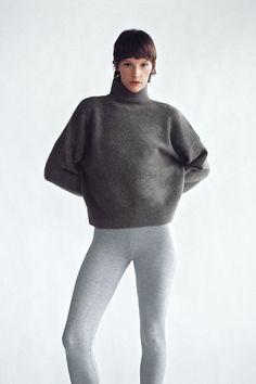SOFT KNIT SWEATER   ZARA Spain Zara United States, Zara Spain, Turtle Neck, Normcore, High Collar, Sweaters, Knitting, Sweatshirts, Long Sleeve