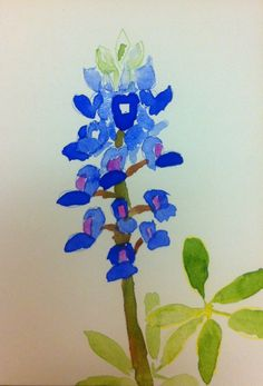 Texas Hill Country Art: How to paint a bluebonnet