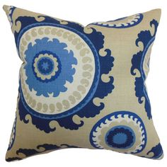 The Pillow Collection Obyan Geometric Cotton Pillow | Wayfair