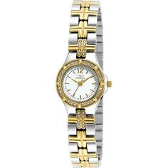 Invicta Watches Womens Wildflower Stainless Steel Watch ($78) ❤ liked on Polyvore featuring jewelry, watches, metalic, water resistant watches, invicta watches, invicta jewelry, invicta and stainless steel wrist watch