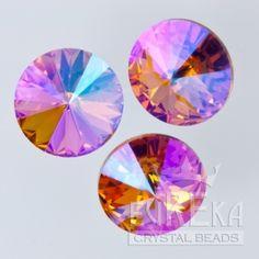 1122 12mm Rivoli TOPAZ GLACIER BLUE | Eureka Crystal Beads