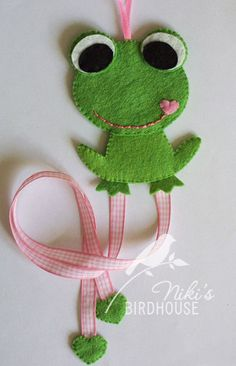 DIY frog hair clip holder PATTERN by NikisBirdhouse on Etsy, $3.80