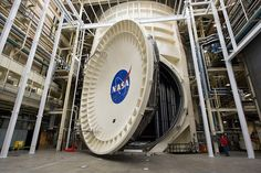This photo shows Chamber A, the large vacuum chamber at NASA's Johnson Space Center