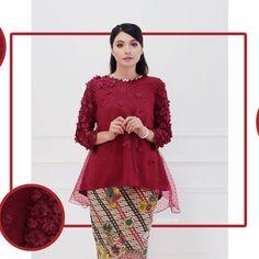 baju couple muslim brokat kombinasi embos lace top kebaya modern organza eiwaonline kurung