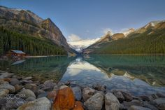 An Early Morning at Lake Louise by JandSPhotography
