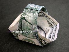 Dollar Origami TIP GIFT BASKET