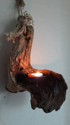 Old oakwood Candle holder with dia metal plate with hook.medicined finished with matte warnish. Old oakwood Candle holder with dia metal plate with Driftwood Furniture, Driftwood Lamp, Driftwood Projects, Driftwood Sculpture, Rustic Lamps, Rustic Room, Wood Pendant Light, Wooden Lamp, Wood Creations