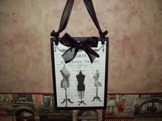 French decor Paris dress form plaque wall by JulieannasCreations, $12.00