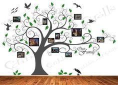 Tree w/ Photo Frames Wall Decal Sticker Family Branch Art Word Removable Vinyl | eBay
