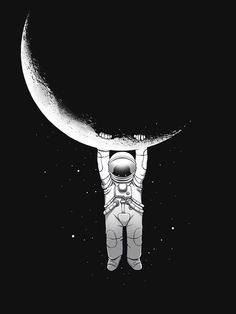 hanging from the moon