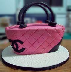 Pink Coach Purse Cake