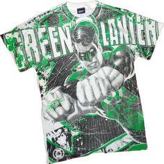 Lantern Power -- Green Lantern Todo la impresión Camiseta, XXL #camiseta #starwars #marvel #gift