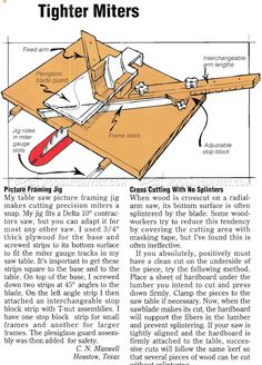 Picture Frame Miter Jig - Table Saw Tips, Jigs and Fixtures | WoodArchivist.com