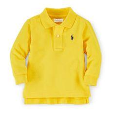 0ce24e87 Long-Sleeved Cotton Polo Shirt - Baby Boy Polo Shirts - RalphLauren.com