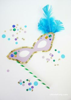 Mardi Gras Mask Templates from Birds Party