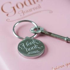 Free UK Delivery Our 'Honk Honk' Keyring is engraved with the message 'Honk Honk You've Passed Your Driving Test'. The reverse of the keyring can be personalised with your own wording. Supplied in a natural cotton bag. Best Gifts, Unique Gifts, Clear Plastic Bags, New Drivers, Ribbon Colors, Cotton Bag, Driving Test, Key Rings, Gift Tags