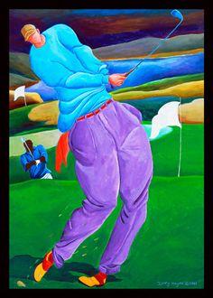 Ivey Hayes Art Work      GOLFER
