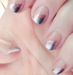 DIY Metallic #Ombre Nails