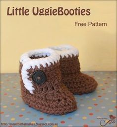Mamma That Makes: Little UggieBooties - Free Crochet Pattern