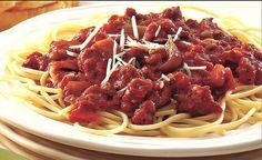 Slow cooker: spaghetti sauce with veggies