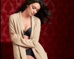 Soma Long Cashmere Robe in Heather Sand #SomaIntimates #mysomawishlist