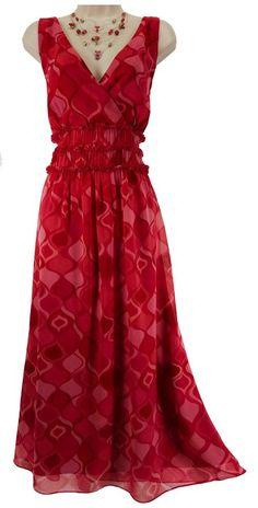 18W 2X SEXY Women RED/PINK SILK SUMMER DRESS Maxi Wedding Cruise Party PLUS SIZE #SangriaWoman #Maxidependingonyourheight #Summer