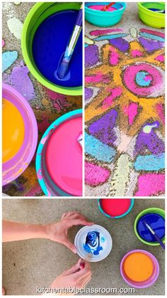 This DIY sidewalk chalk recipe is so easy you barely need a recipe. Relax and let kids do the making with this homemade paint! This DIY sidewalk chalk recipe is so easy you barely need a recipe. Relax and let kids do the making with this homemade paint! Kids Crafts, Summer Crafts, Projects For Kids, Diy For Kids, Summer Fun, Home Made Paint For Kids, Creative Crafts, Toddler Crafts, Yarn Crafts