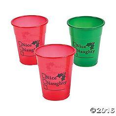 Nice or Naughty Plastic Cups