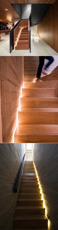 Stair Design Idea – Include Hidden Lights To Guide You At Night | CONTEMPORIST