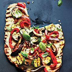 Grilled Vegetable and Fontina Pizza | MyRecipes.com