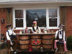 pirate halloween yard | Static: Pirates of PRP Daytime Pics 2010