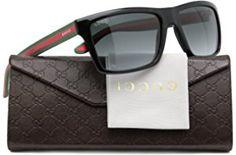 b8f926f716 GUCCI GG1013 S Men Sunglasses Shiny Black w Grey Gradient (051N) 1013
