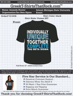 Can't wait to get these fabulous shirts from Greek T-Shirts That Rock! :) Tau Beta Sigma
