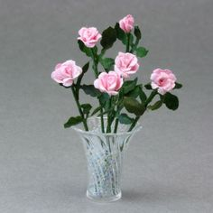 Make Dolls House Scale Miniature Paper Roses