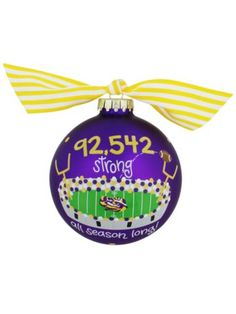 $14.50 LSU Death Valley Glass Keepsake Ornament with Gift Box