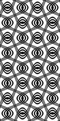 Seamless black and white swirl pattern