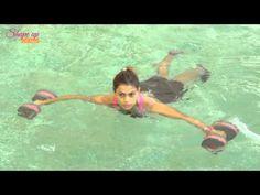 Aqua aerobics bootcamp - how to do push ups & get a cardio workout in pool. - YouTube