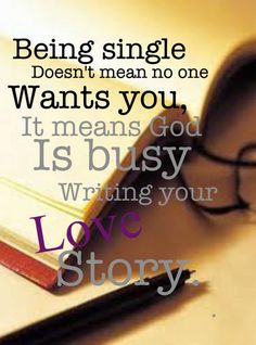 Being single is OK!!