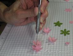 Punched Flower Tutorial - KittieKraft