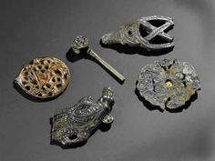 Some of the Anglo Saxon finds from Aberlady on display in the National Museum of Scotland, Edinburgh.