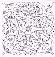 My Crochet Dream Crochet Tablecloth Pattern, Crochet Bedspread Pattern, Crochet Motif Patterns, Granny Square Crochet Pattern, Crochet Diagram, Square Patterns, Crochet Chart, Crochet Squares, Crochet Designs