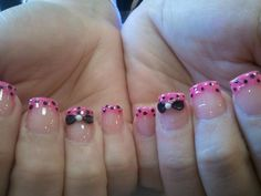 Black n White bow with dots