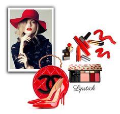 """""""Red Lipstick"""" by mtv-2261 ❤ liked on Polyvore featuring beauty, Topshop, Yves Saint Laurent, Chanel and REDLIP"""