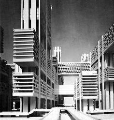 kenzo tange, tsukiji district tokyo, 1961